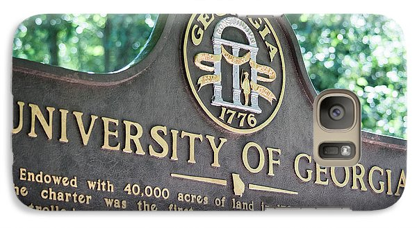 Galaxy Case featuring the photograph University Of Georgia Sign by Parker Cunningham