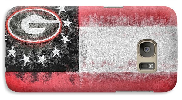 Galaxy S7 Case featuring the digital art University Of Georgia State Flag by JC Findley