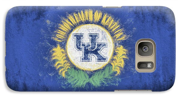 Galaxy S7 Case featuring the digital art University Of Kentucky State Flag by JC Findley