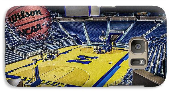 Galaxy Case featuring the digital art University Of Michigan Basketball by Nicholas Grunas