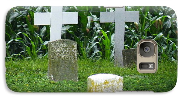 Galaxy Case featuring the photograph Unmarked Youth Center Graves #1 by The Gypsy