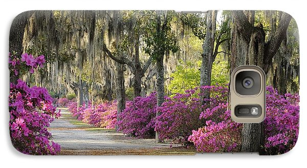 Unpaved Road With Azaleas And Oaks Galaxy S7 Case