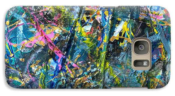 Galaxy Case featuring the painting Untitled Abstraction by Robert Anderson