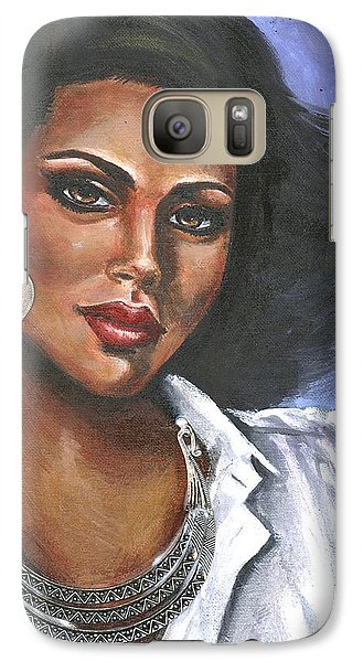 Galaxy Case featuring the painting Untitled by Alga Washington