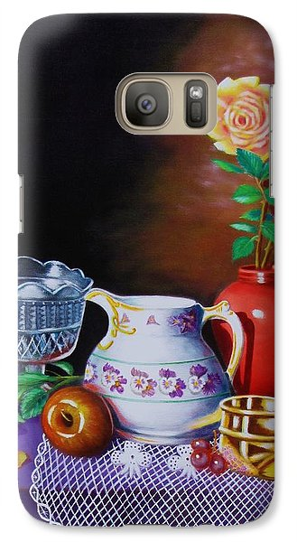 Galaxy Case featuring the painting Nostalgic Vision by Gene Gregory