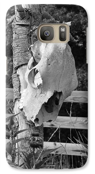 Galaxy Case featuring the photograph Untitled In Black And White by Laurinda Bowling