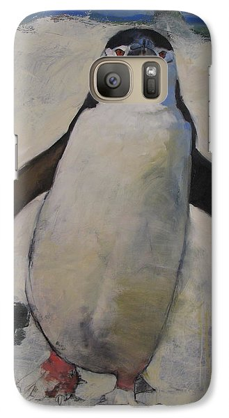Galaxy Case featuring the painting Untitled Unfinished Chinstrap by Cliff Spohn