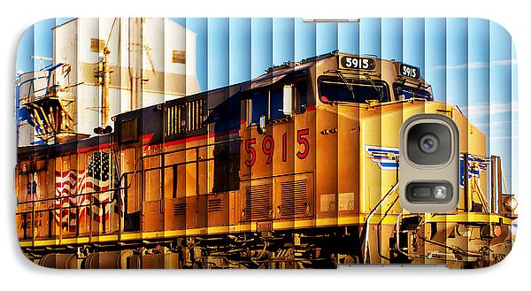 Galaxy Case featuring the photograph Up 5915 At Track Speed by Bill Kesler