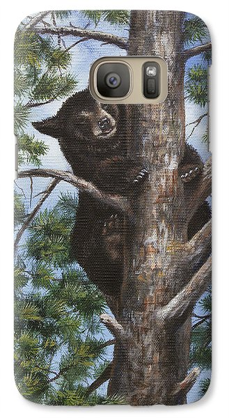 Galaxy Case featuring the painting Up A Tree by Kim Lockman