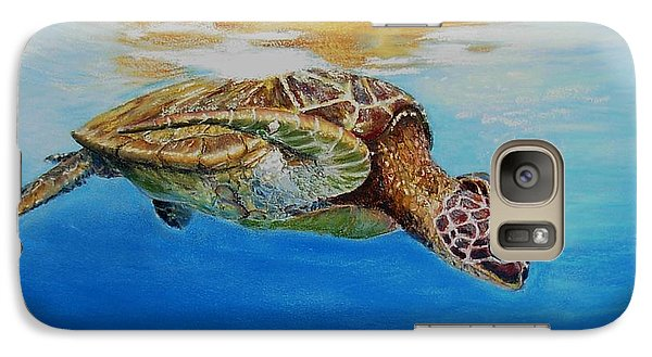 Galaxy Case featuring the painting Up For Some Rays by Ceci Watson
