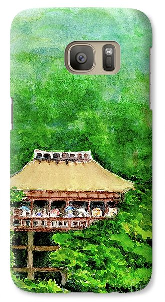 Galaxy Case featuring the painting Up High Temple by Yoshiko Mishina