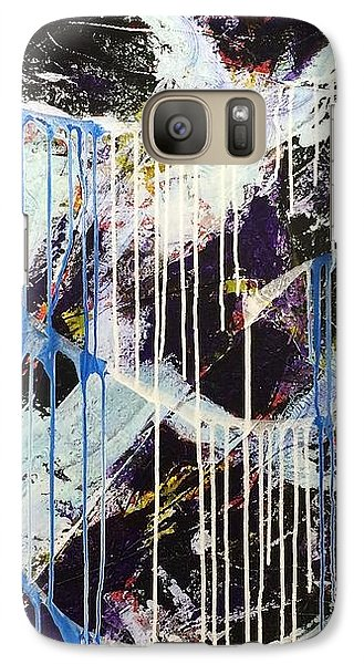 Galaxy Case featuring the painting Up In The Air by Sheila Mcdonald