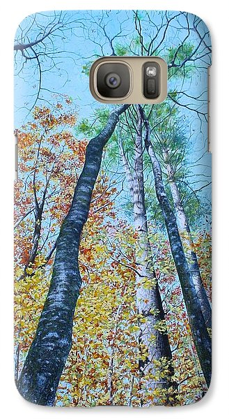 Galaxy Case featuring the painting Up Into The Trees by Mike Ivey