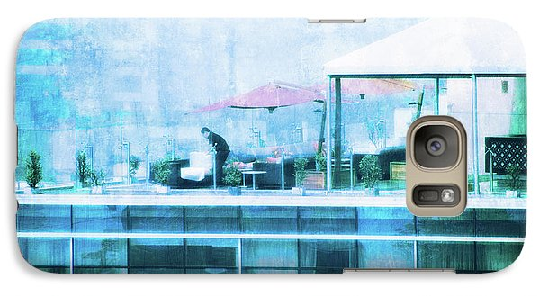 Galaxy Case featuring the digital art Up On The Roof - II by Mary Machare