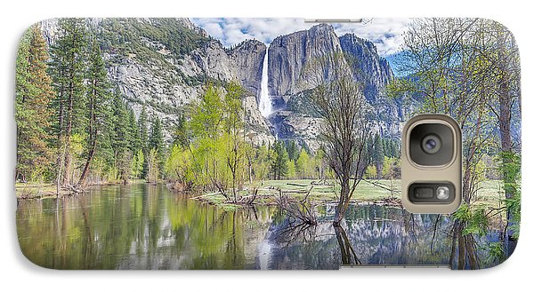 Galaxy Case featuring the photograph Upper Yosemite Falls In Spring by Scott McGuire