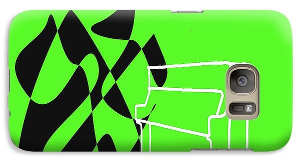 Galaxy Case featuring the digital art Upright Piano In Green by Jazz DaBri