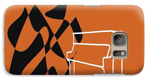 Galaxy Case featuring the digital art Upright Piano In Orange by Jazz DaBri