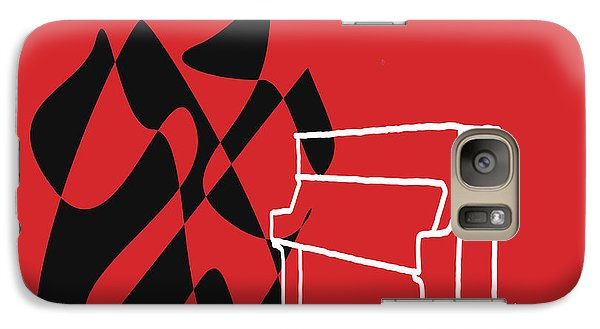 Galaxy Case featuring the digital art Upright Piano In Red by Jazz DaBri