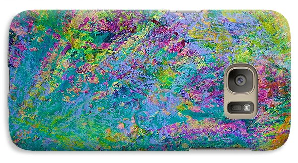 Galaxy Case featuring the painting Uprising Color Poem by Polly Castor