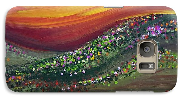 Galaxy Case featuring the painting Ups And Downs by Ashley Price