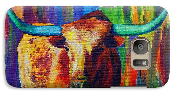 Galaxy Case featuring the painting Uptown Longhorn by Karen Kennedy Chatham