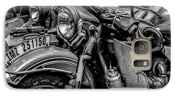 Galaxy Case featuring the photograph Ural Patrol Bike by Anthony Citro