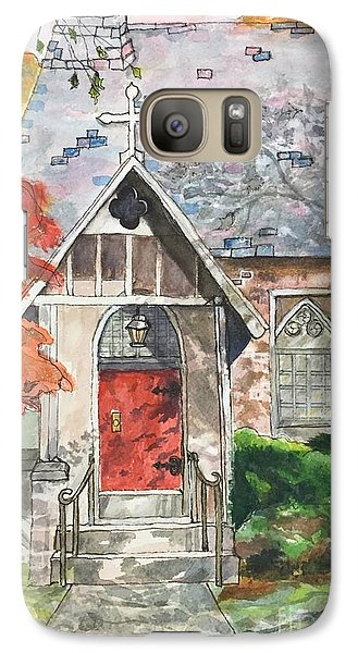 Galaxy Case featuring the painting Urban  Church Sketching by Lucia Grilletto