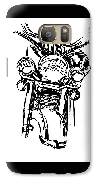 Urban Drawing Motorcycle Galaxy Case by Chad Glass