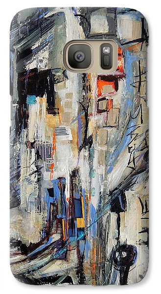Galaxy Case featuring the painting Urban Street 2 by Mary Schiros