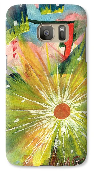 Galaxy Case featuring the painting Urban Sunburst by Andrew Gillette