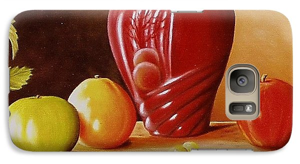 Galaxy Case featuring the painting Urn An Apple by Gene Gregory