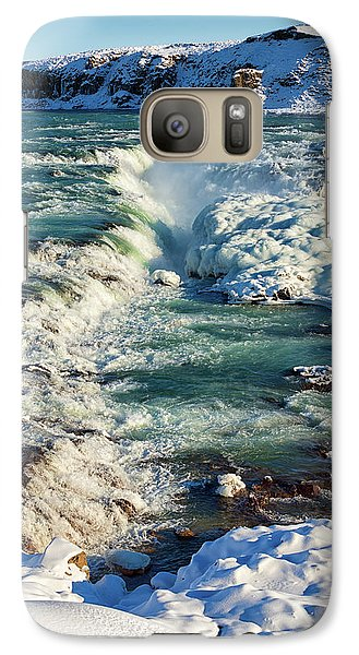 Galaxy Case featuring the photograph Urridafoss Waterfall Iceland by Matthias Hauser