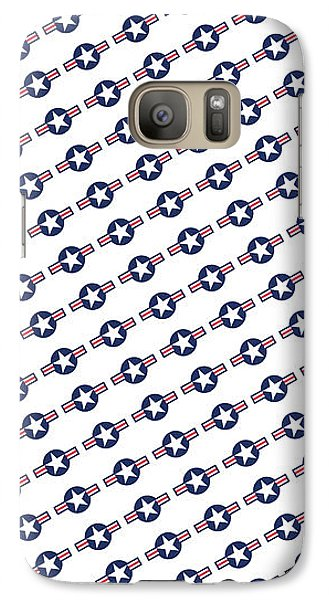 Galaxy Case featuring the digital art Us Airforce Style Insignia Pattern Diag Version by Bruce Stanfield