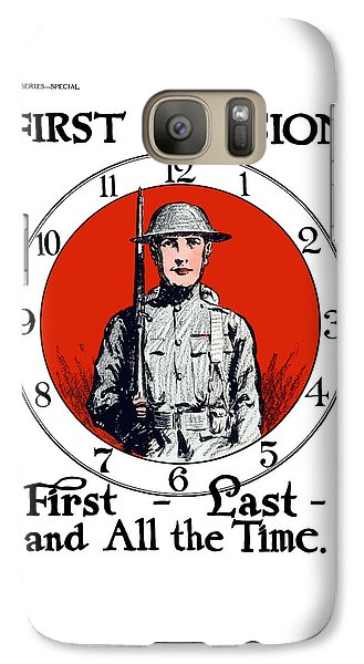 Galaxy Case featuring the painting Us Army First Division - Ww1 by War Is Hell Store