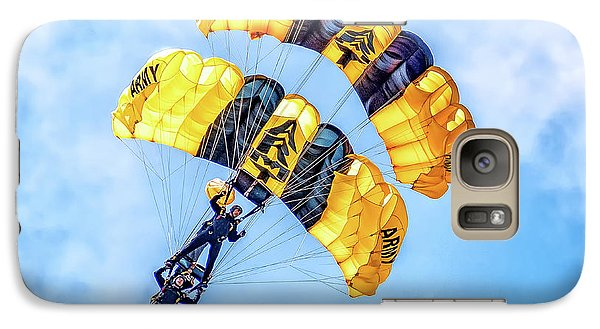 Galaxy Case featuring the photograph U.s. Army Golden Knights by Nick Zelinsky