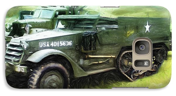 Galaxy Case featuring the painting U.s. Army Halftrack by Michael Cleere