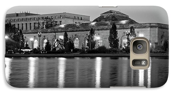 Galaxy Case featuring the photograph U.s. Botanic Garden At Night In Black And White by Greg Mimbs
