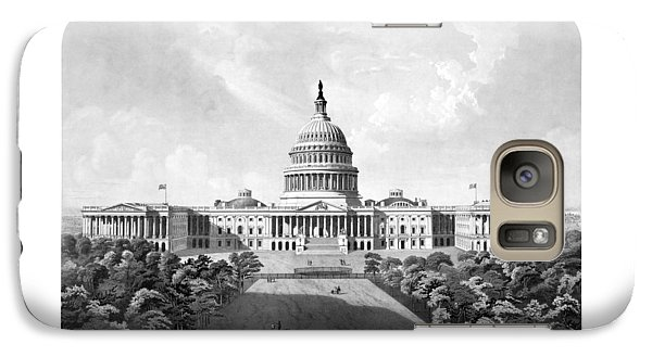 Us Capitol Building - Washington Dc Galaxy S7 Case by War Is Hell Store