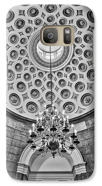 Galaxy Case featuring the photograph Us Capitol Rotunda Washington Dc Bw by Susan Candelario
