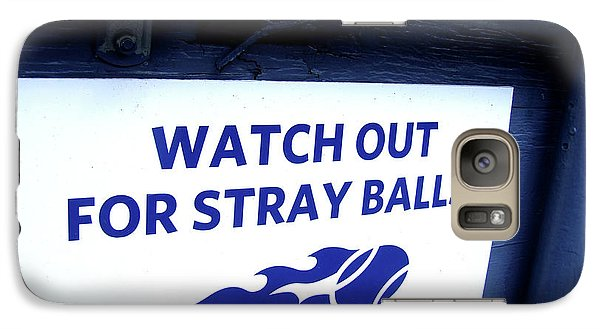 Us Open Tennis Watch Out For Stray Balls Sign Galaxy S7 Case