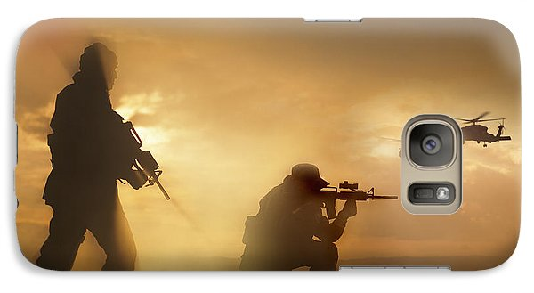 Helicopter Galaxy S7 Case - U.s. Special Forces Provide Security by Tom Weber