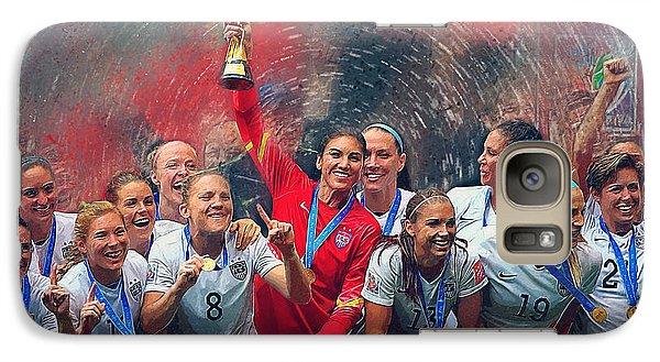 Us Women's Soccer Galaxy S7 Case by Semih Yurdabak