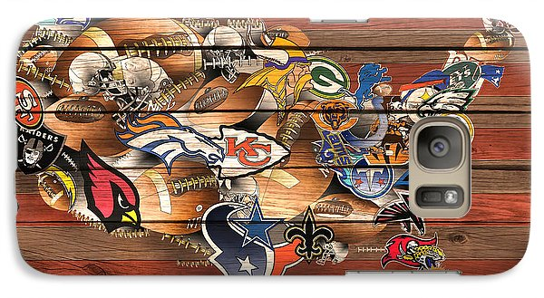 Usa Nfl Map Collage 6 Galaxy S7 Case
