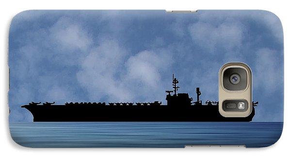 Hawk Galaxy S7 Case - Uss Kitty Hawk 1955 V1 by Smart Aviation
