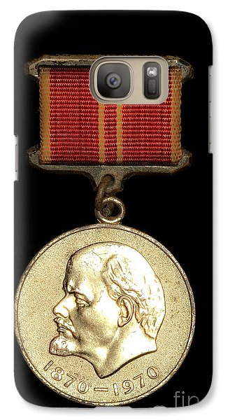 Galaxy Case featuring the photograph Ussr Army Medal With Lenin 1870-1970 by Yurix Sardinelly