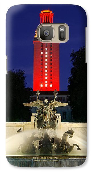 Austin Galaxy S7 Case - Ut Austin Tower Orange by Lisa  Spencer