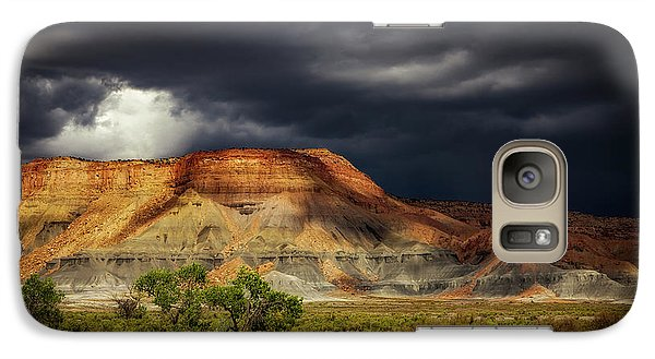 Galaxy Case featuring the photograph Utah Mountain With Storm Clouds by John A Rodriguez