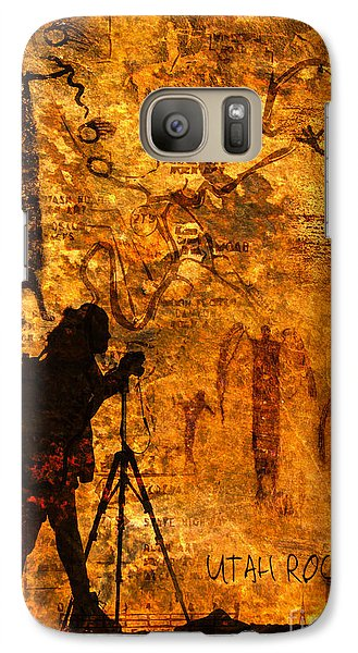 Galaxy Case featuring the photograph Utah Rock Art Montage by Marianne Jensen