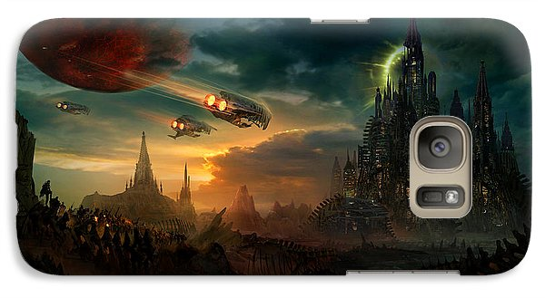 Space Ships Galaxy S7 Case - Utherworlds Sosheskaz Falls by Philip Straub
