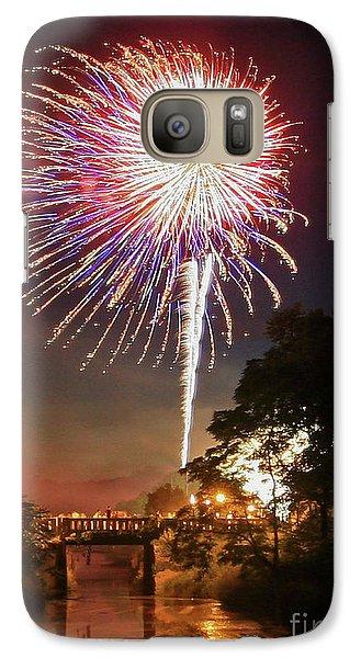 Galaxy Case featuring the photograph Utica Fireworks by Paula Guttilla